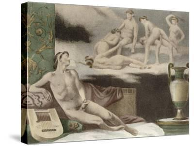 Ancient Times, Plate Xi from De Figuris Veneris by F.K Forberg, Engraved by Artist, 1900-Edouard-henri Avril-Stretched Canvas Print