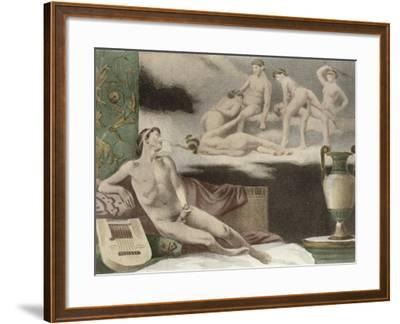 Ancient Times, Plate Xi from De Figuris Veneris by F.K Forberg, Engraved by Artist, 1900-Edouard-henri Avril-Framed Giclee Print