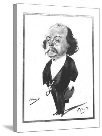 Caricature of Gustave Flaubert, 1867-Eugene Giraud-Stretched Canvas Print