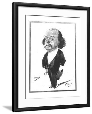 Caricature of Gustave Flaubert, 1867-Eugene Giraud-Framed Giclee Print