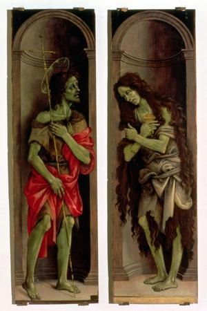 St. John the Baptist and St. Mary Magdalene-Filippino Lippi-Stretched Canvas Print