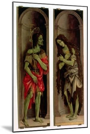 St. John the Baptist and St. Mary Magdalene-Filippino Lippi-Mounted Giclee Print