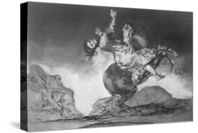 Abducting Horse, Plate 10 of Proverbs, c.1819-23-Francisco de Goya-Stretched Canvas Print