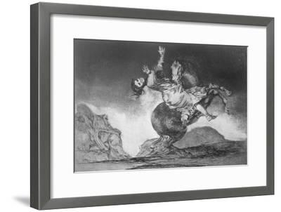 Abducting Horse, Plate 10 of Proverbs, c.1819-23-Francisco de Goya-Framed Giclee Print