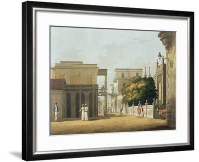 St. Thome Street, Fort St. George, Plate 12, Twenty Four Views in Hindostan, Engraved by Merke-Colonel Francis Swain Ward-Framed Giclee Print