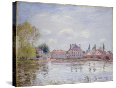 The Bridge at Moret-Sur-Loing, 1890-Alfred Sisley-Stretched Canvas Print