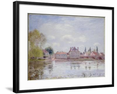 The Bridge at Moret-Sur-Loing, 1890-Alfred Sisley-Framed Giclee Print