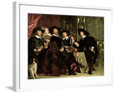 The Officials of the Company of Bowyers of St. Sebastian at Amsterdam, 1653-Bartolomeus Van Der Helst-Framed Giclee Print