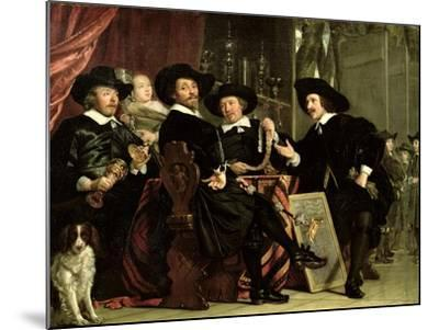 The Officials of the Company of Bowyers of St. Sebastian at Amsterdam, 1653-Bartolomeus Van Der Helst-Mounted Giclee Print