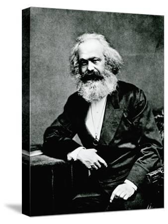 Portrait of Karl Marx--Stretched Canvas Print