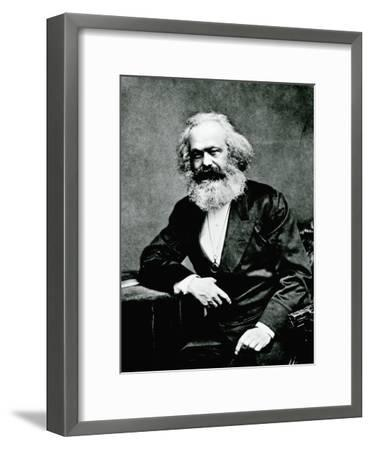 Portrait of Karl Marx--Framed Photographic Print