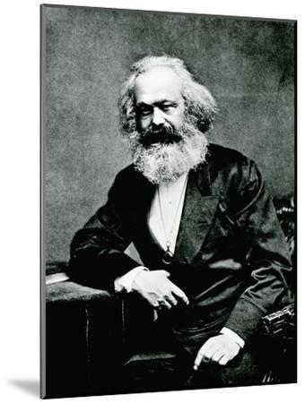 Portrait of Karl Marx--Mounted Photographic Print