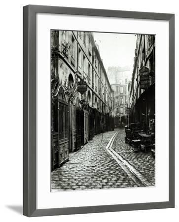 Passage du Dragon, Paris, 1858-78-Charles Marville-Framed Photographic Print