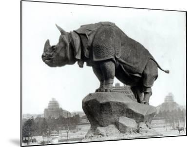 Rhinoceros, 1878, by Alfred Jacquemart-Adolphe Giraudon-Mounted Photographic Print