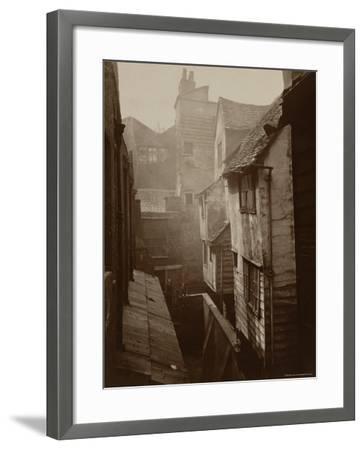 Cloth Fair, Smithfield c.1875-Peter Henry Emerson-Framed Photographic Print
