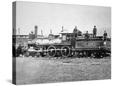 Union Pacific Locomotive No.119 That Pulled the Special Train to the Golden Spike, Utah, c.1869--Stretched Canvas Print