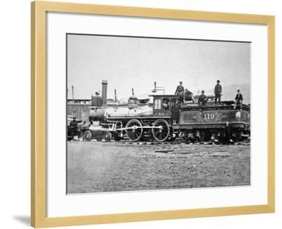 Union Pacific Locomotive No.119 That Pulled the Special Train to the Golden Spike, Utah, c.1869--Framed Photographic Print