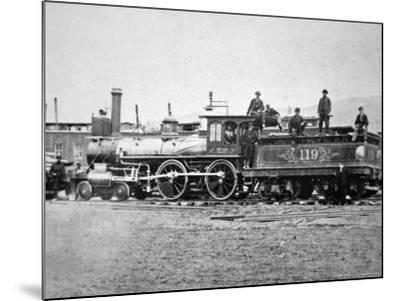 Union Pacific Locomotive No.119 That Pulled the Special Train to the Golden Spike, Utah, c.1869--Mounted Photographic Print