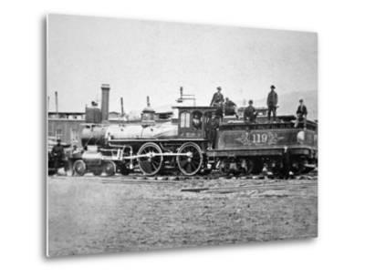 Union Pacific Locomotive No.119 That Pulled the Special Train to the Golden Spike, Utah, c.1869--Metal Print