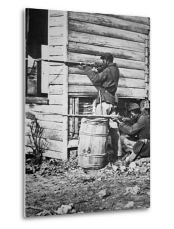 Black Troops of the Union Army on Picket Duty in Virginia During the American Civil War--Metal Print