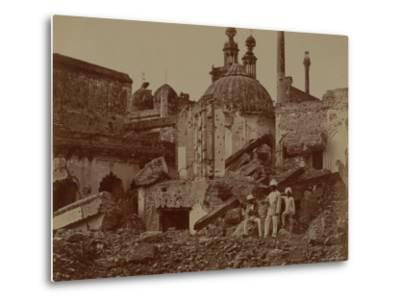 Fort Lucknow After the Indian Mutiny, 1857-Felice Beato-Metal Print