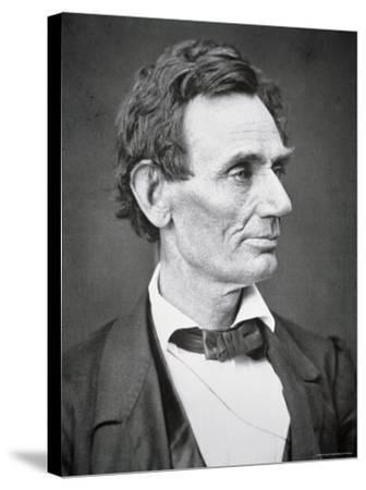 Abraham Lincoln-Alexander Hesler-Stretched Canvas Print
