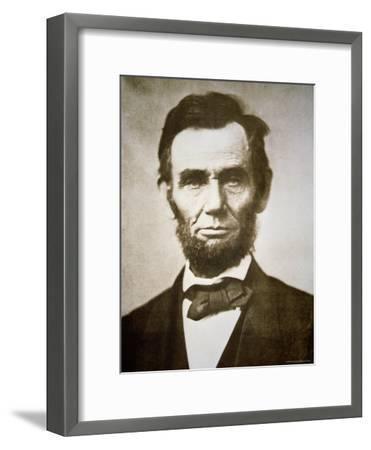 Abraham Lincoln-Alexander Gardner-Framed Photographic Print