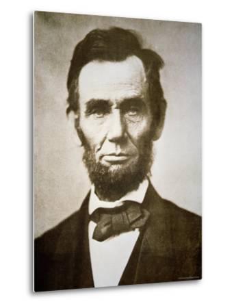 Abraham Lincoln-Alexander Gardner-Metal Print