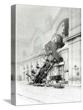 Train Accident at the Gare Montparnasse in Paris on 22nd October 1895--Stretched Canvas Print