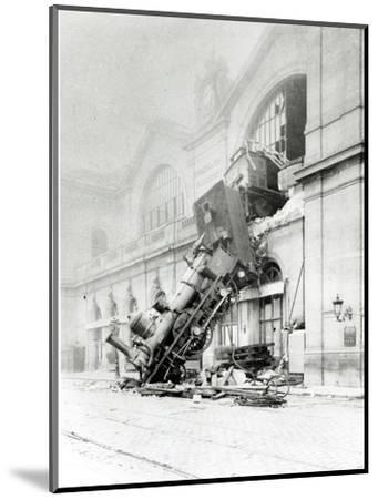 Train Accident at the Gare Montparnasse in Paris on 22nd October 1895--Mounted Photographic Print