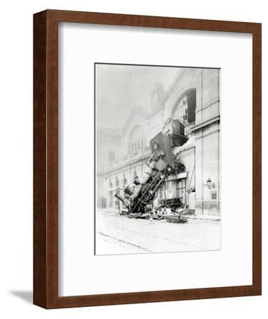 Train Accident at the Gare Montparnasse in Paris on 22nd October 1895--Framed Photographic Print