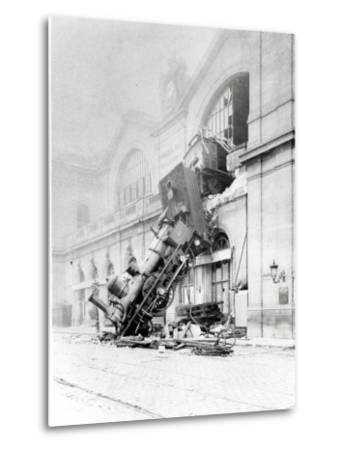 Train Accident at the Gare Montparnasse in Paris on 22nd October 1895--Metal Print