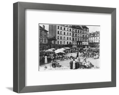 Postcard Depicting Place D'Aligre and Marche Lenoir, Rue Beccaria, Paris, 1906--Framed Photographic Print