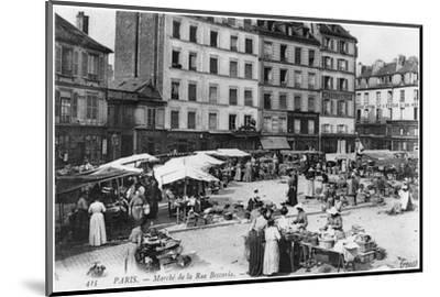 Postcard Depicting Place D'Aligre and Marche Lenoir, Rue Beccaria, Paris, 1906--Mounted Photographic Print