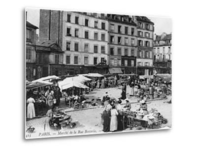 Postcard Depicting Place D'Aligre and Marche Lenoir, Rue Beccaria, Paris, 1906--Metal Print