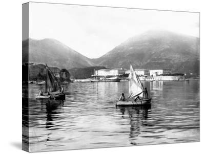 View of the Gulf of La Spezia--Stretched Canvas Print