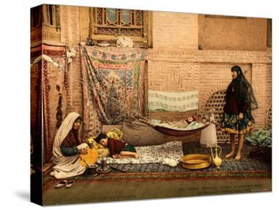 Persian Family in a House of Teheran--Stretched Canvas Print