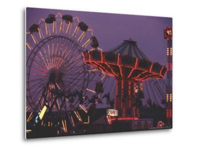The Popular Midway Section of the New York State Fair-Michael Okoniewski-Metal Print