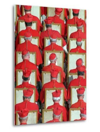 Old Cardinals are Seen During the Concistory--Metal Print