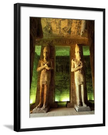 Statue at the Great Temple of Ramesses II, Egypt-Claudia Adams-Framed Photographic Print