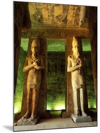 Statue at the Great Temple of Ramesses II, Egypt-Claudia Adams-Mounted Photographic Print