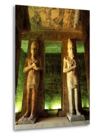 Statue at the Great Temple of Ramesses II, Egypt-Claudia Adams-Metal Print