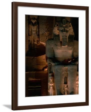 Temple Facade Details, Colossal Figures of Ramses II, New Kingdom, Abu Simbel, Egypt-Kenneth Garrett-Framed Photographic Print