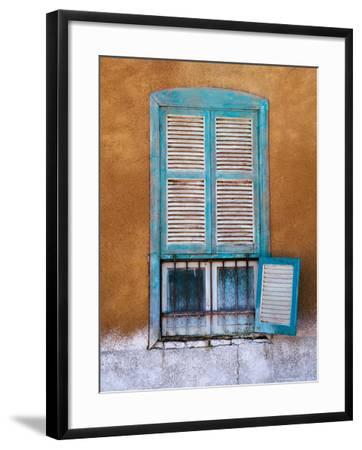 Nubian Window in a Village Across the Nile from Luxor, Egypt-Tom Haseltine-Framed Photographic Print