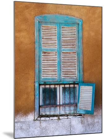 Nubian Window in a Village Across the Nile from Luxor, Egypt-Tom Haseltine-Mounted Photographic Print