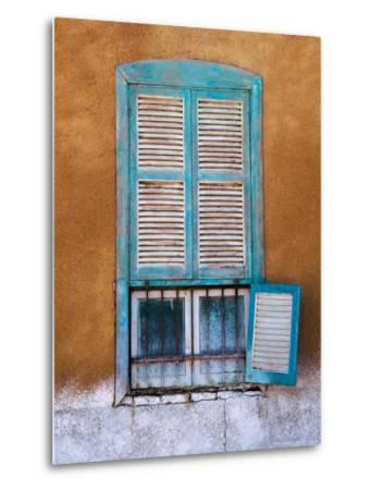 Nubian Window in a Village Across the Nile from Luxor, Egypt-Tom Haseltine-Metal Print