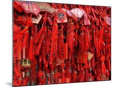 Placques Adorn the Fence of the Four Gates Buddhist Temple, Shandong Province, Jinan, China-Bruce Behnke-Mounted Photographic Print