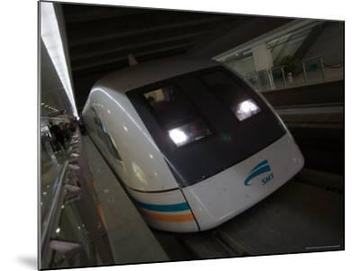 Meglev Train Prepares to Depart Airport Train Station, Shanghai, China-Paul Souders-Mounted Photographic Print