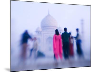 Pink Sari, Taj Mahal, India-Walter Bibikow-Mounted Photographic Print