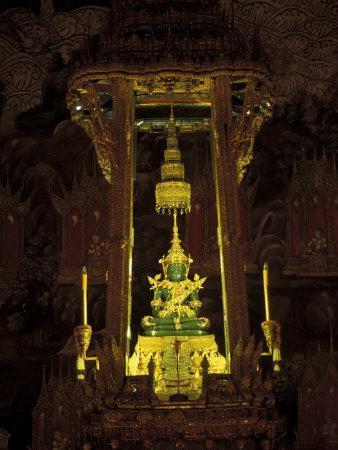 Emerald Buddha at the Grand Palace, Bangkok, Thailand-Claudia Adams-Framed Photographic Print